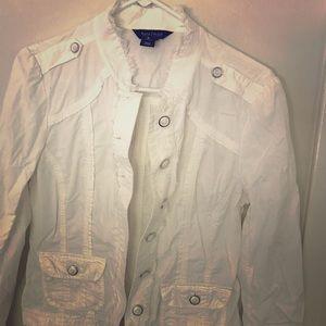 White House Black Market - fray distressed jacket
